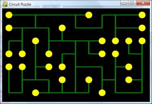 Example of solved Circuit Puzzle